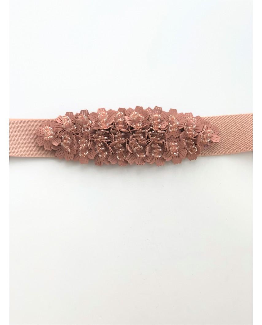 Kokodol.com - Cinturón Flores Pedrería - Nude