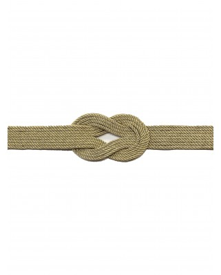 Kokodol.com - Cinturón Nudo Cuerdas - Dorado