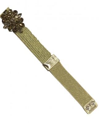 Kokodol.com - Cinturón Pedrería Cuerda - Dorado