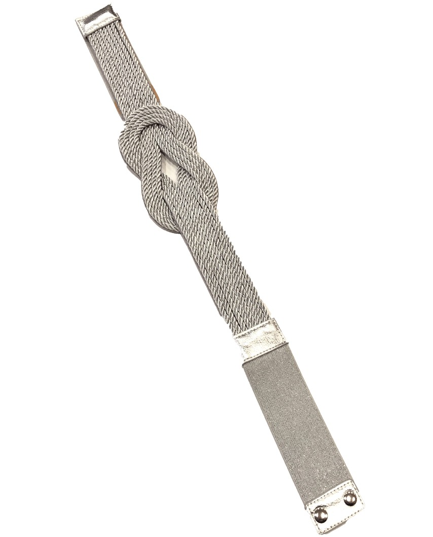 Kokodol.com - Cinturón Nudo Cuerdas - Plateado