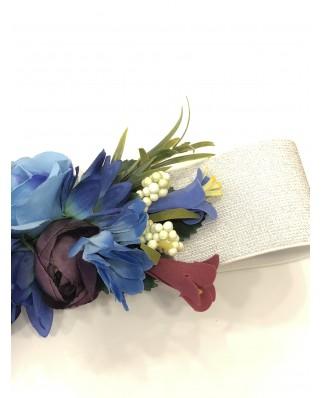 Kokodol.com - Cinturón Flores Edurne - azul