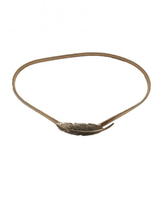 Kokodol.com - Cinturón Pluma dorado