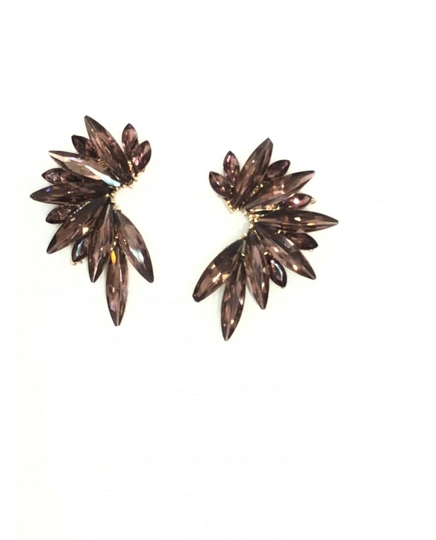 Kokodol.com - Pendientes Flora marrón