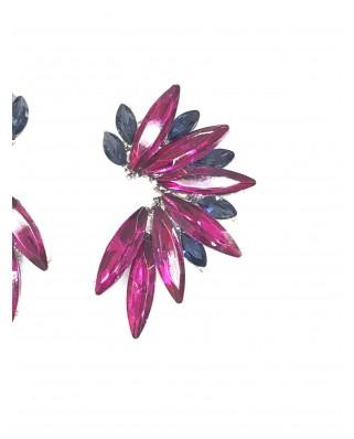 Kokodol.com - Pendientes Flora buganvilla/azul