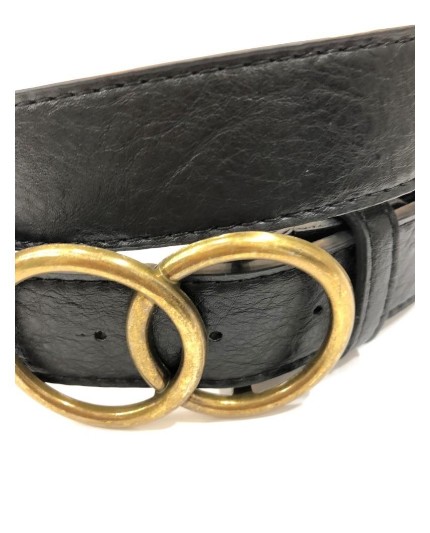 Kokodol.com - Cinturón Hebilla Círculos negro