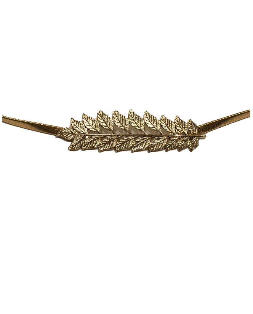 Kokodol.com - Cinturón Elástico Hojas - Dorado