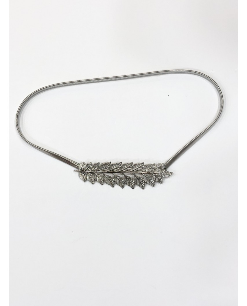 kokodol.com - Cinturón Elástico Hojas plateado