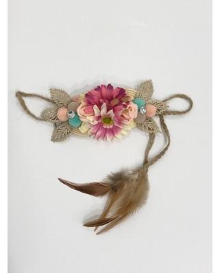 kokodol.com - Cinturón Hipie Flores rosa