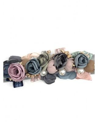 kokodol.com - Cinturón Flores Grisel gris