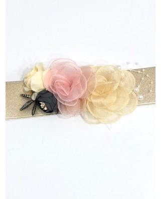 kokodol.com - Cinturón Flores Gretel rosa