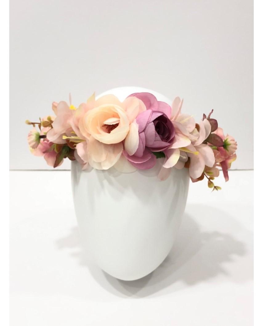 kokodol.com - Corona Flores rosa