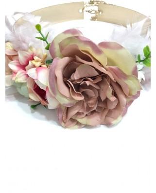 kokodol.com - Cinturón Latón Flores Sheyla nude