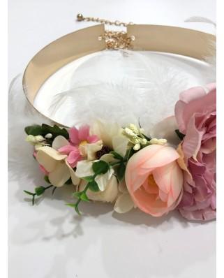 kokodol.com - Cinturón Latón Flores Sheyla rosa