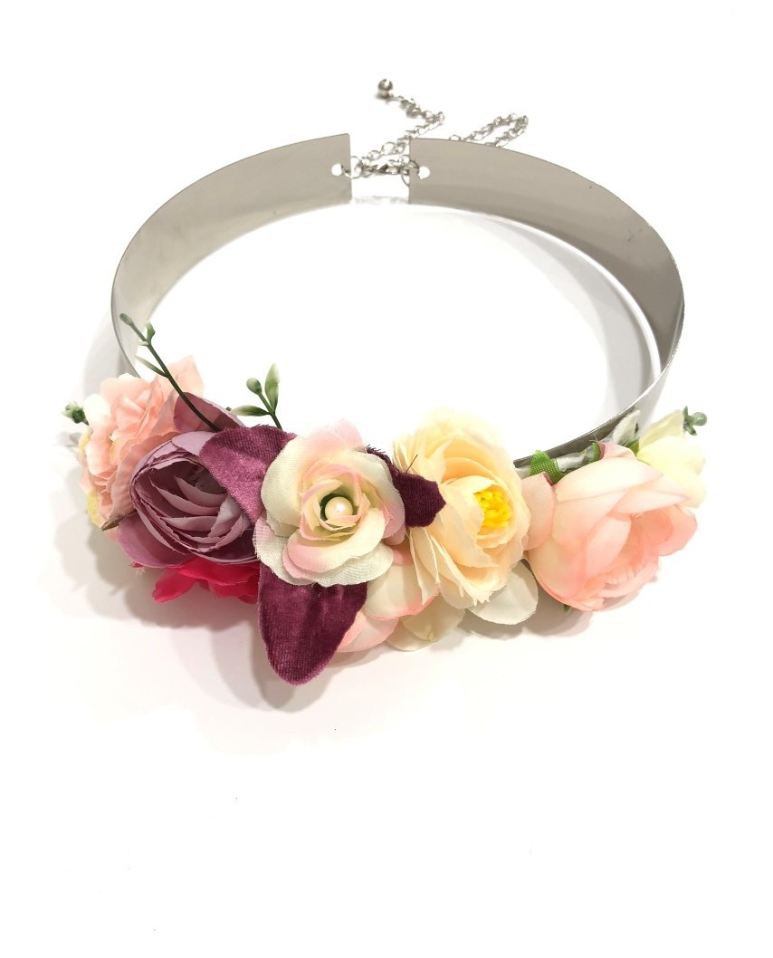 kokodol.com - Cinturón Flores Plumas Valentina rosa