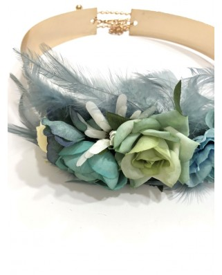 kokodol.com - Cinturón Latón Flores Irina verde