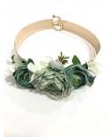 Cinturón Latón Flores Laura - verde