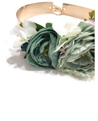 kokodol.com - Cinturón Latón Flores Laura - verde