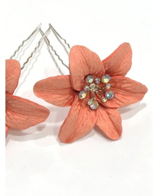kokodol.com - Horquillas Flor coral
