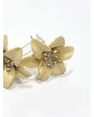 kokodol.com - Horquillas Flor beig
