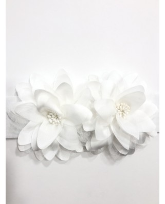 kokodol.com - Cinturón Flores Mara blanco