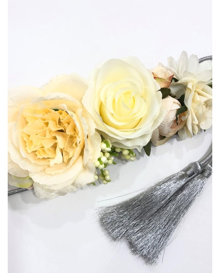 kokodol.com - Cinturón Flores Cordón Dyana crudo