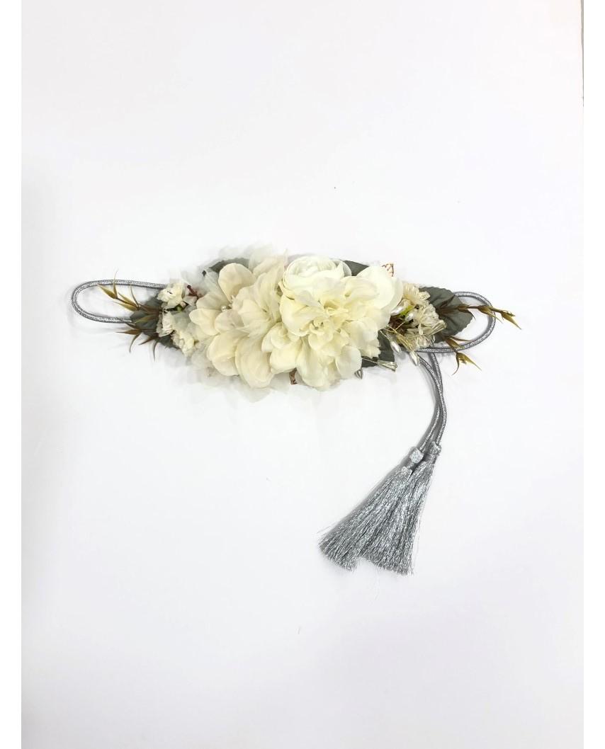 kokodol.com - Cinturón Flores Cordón Lolita crudo