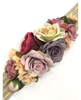 kokodol.com - Cinturón Flores Sophie morado