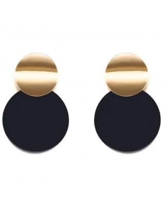 kokodol.com - Pendientes Círculos Tokio negro