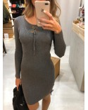 Vestido Punto Lorette gris