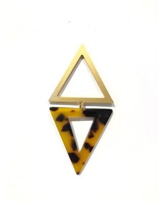 kokodol.com - Pendientes Triangulo mix dorado