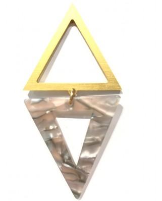 kokodol.com - Pendientes Triangulo mix gris
