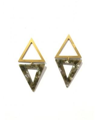 kokodol.com - Pendientes Triangulo mix verde