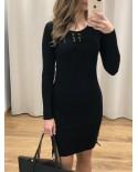 Vestido Punto Lorette negro