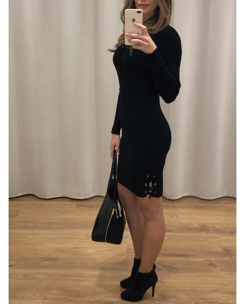 kokodol.com - Vestido Punto Lorette negro