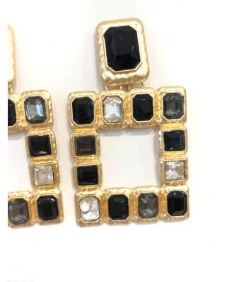 kokodol.com - Pendientes Cuadrados Belinda negro