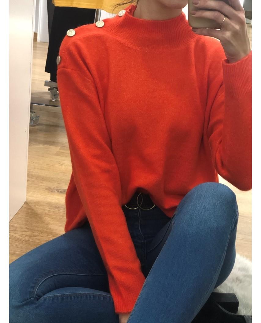 kokodol.com - Jersey Liso Fluor naranja