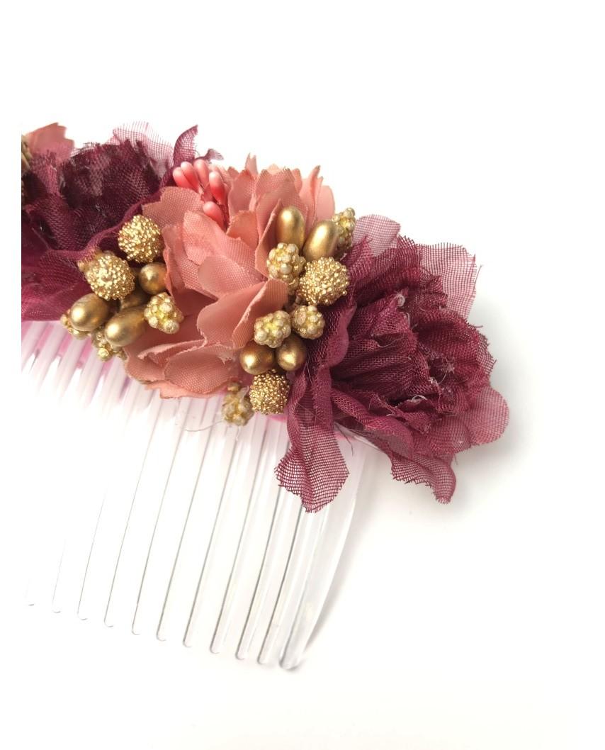 kokodol.com - Tocado Flores Brooklyn rosa