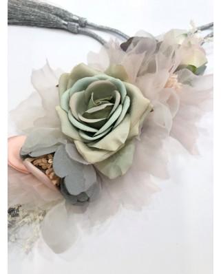 kokodol.com - Cinturón Flores Cordón EDEN aguamarina
