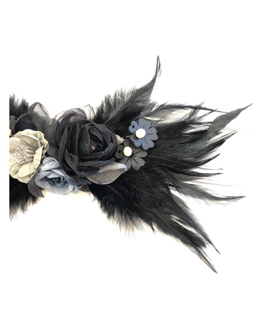 kokodol.com - Cinturón Plumas Kassia negro