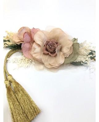 kokodol.com - Cinturón Flores Cordón Milano nude