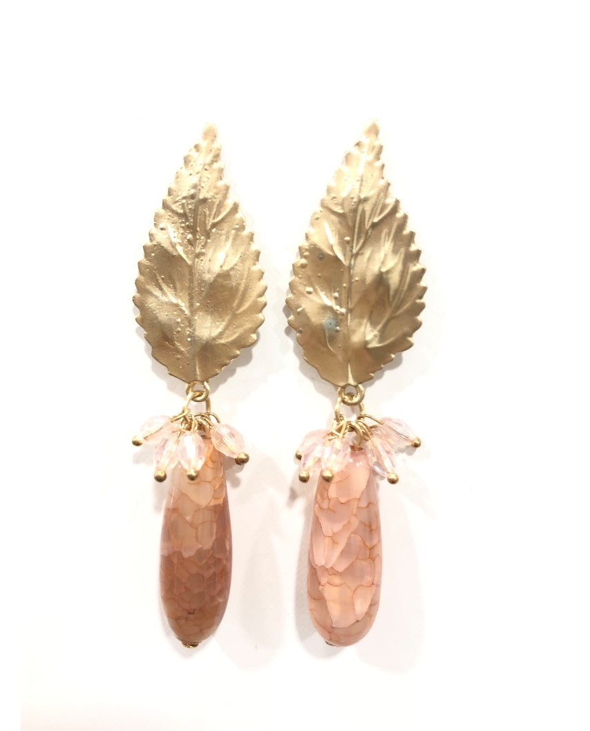 kokodol.com - Pendientes Piedra Córdoba rosa