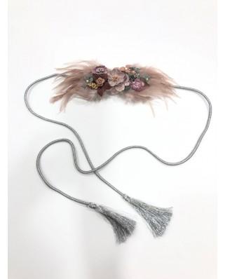 kokodol.com - Cinturón Flores Plumas Lia nude