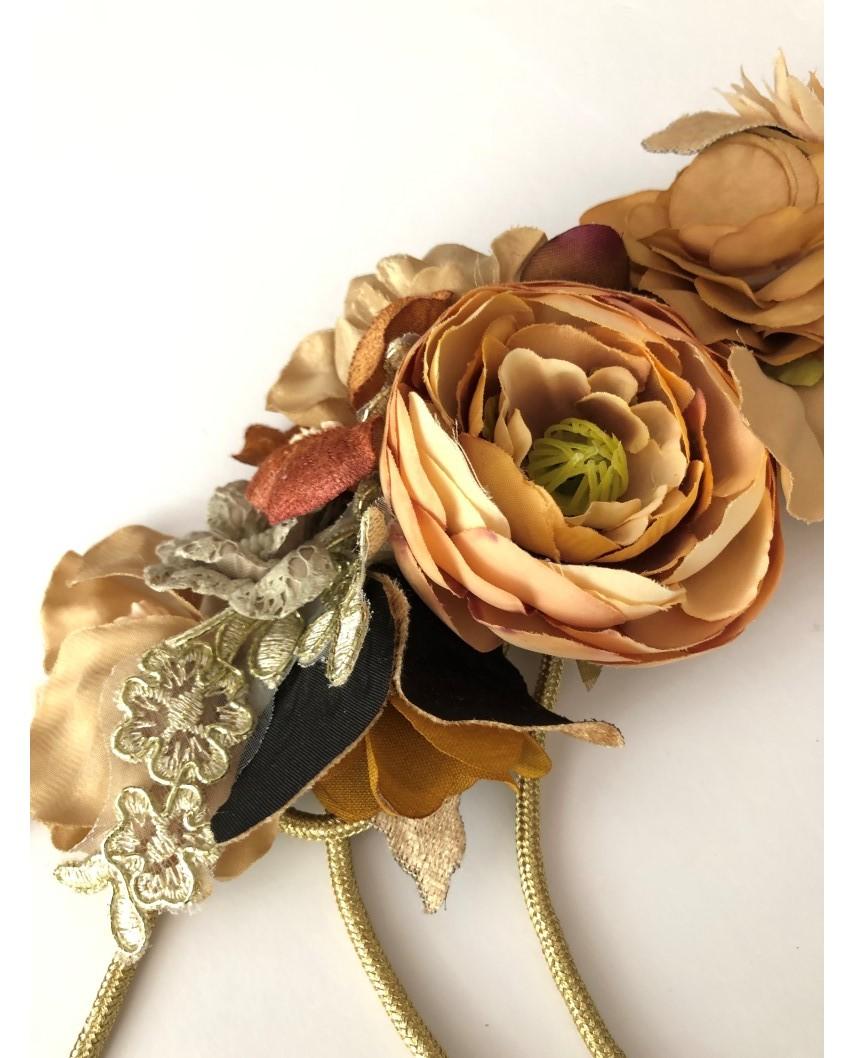 kokodol.com - Cinturón Flores Cordón Autum marrón