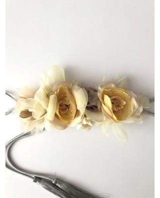 kokodol.com - Cinturón Flores Cordón Cersei amarillo