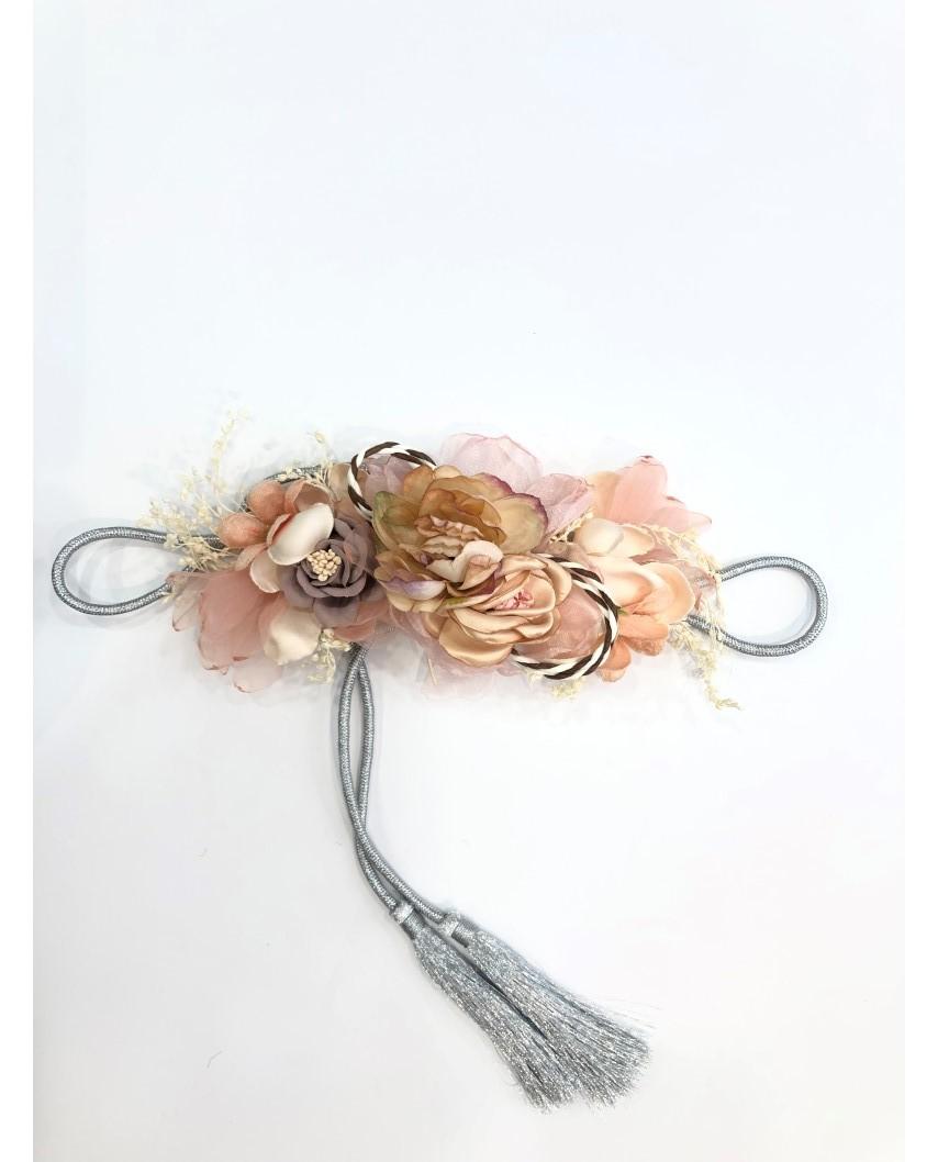 kokodol.com - Cinturón Flores Cordón Zinerva nude