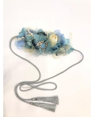 kokodol.com - Cinturón Flores Cordón Ocean azul