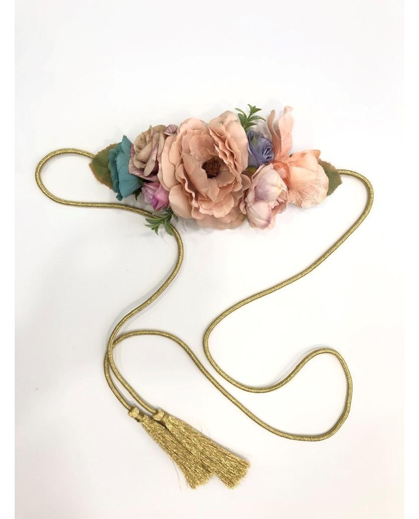 kokodol.com - Cinturón Flores Mimbre Orazia nude