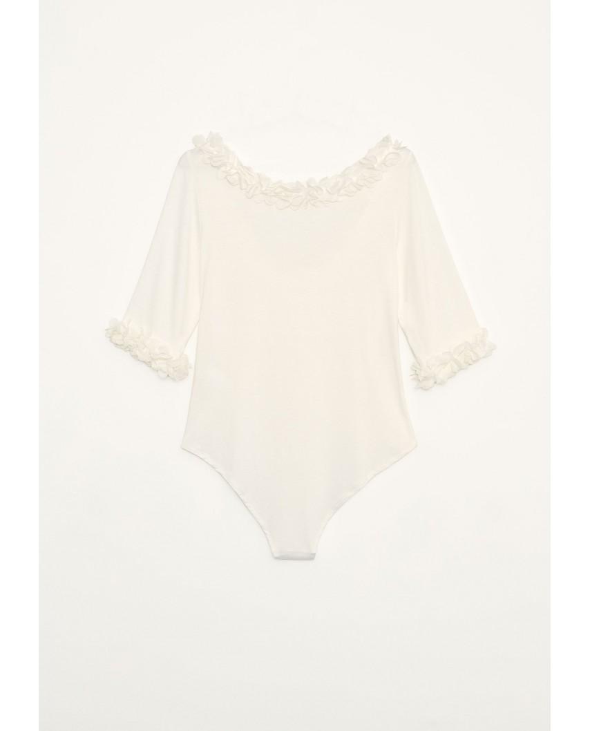 kokodol.com - Body Flores blanco