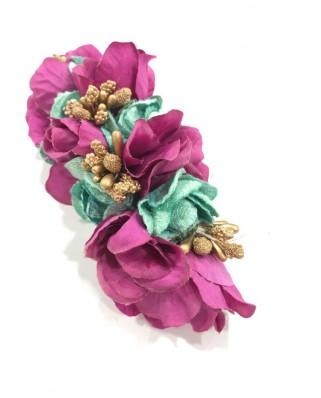 kokodol.com - Tocado Flores Nekane buganvilla/turquesa