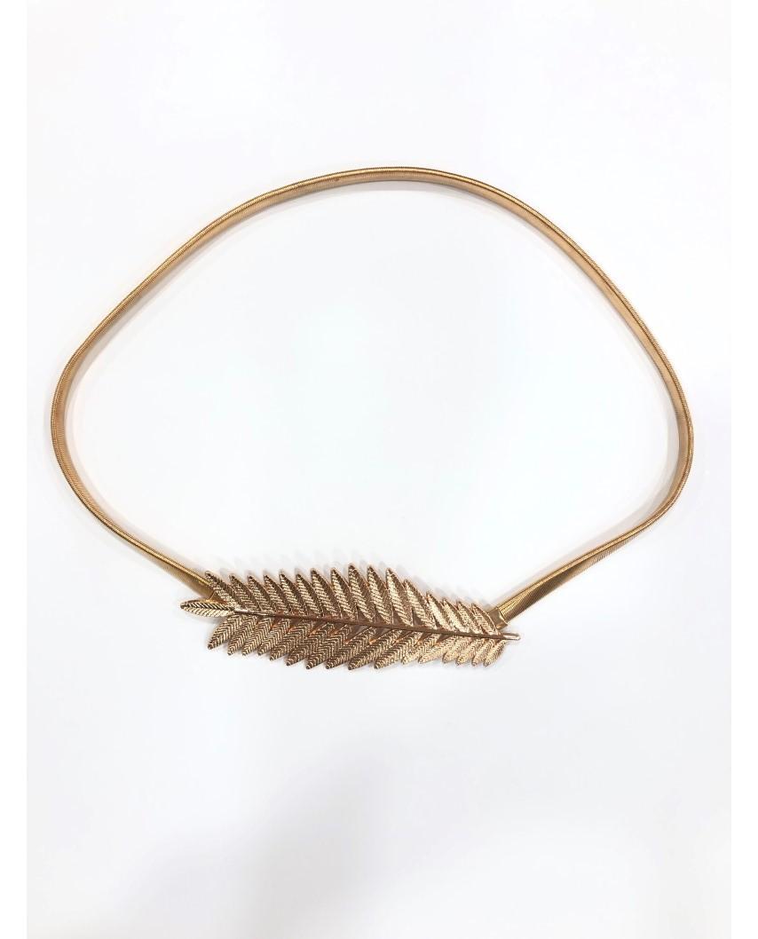 kokodol.com - Cinturón Elástico Hojas Lina dorado